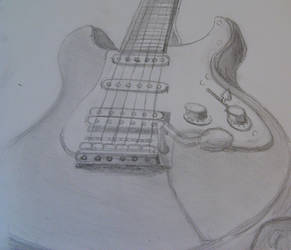 Electric guitar drawing by richardnorth
