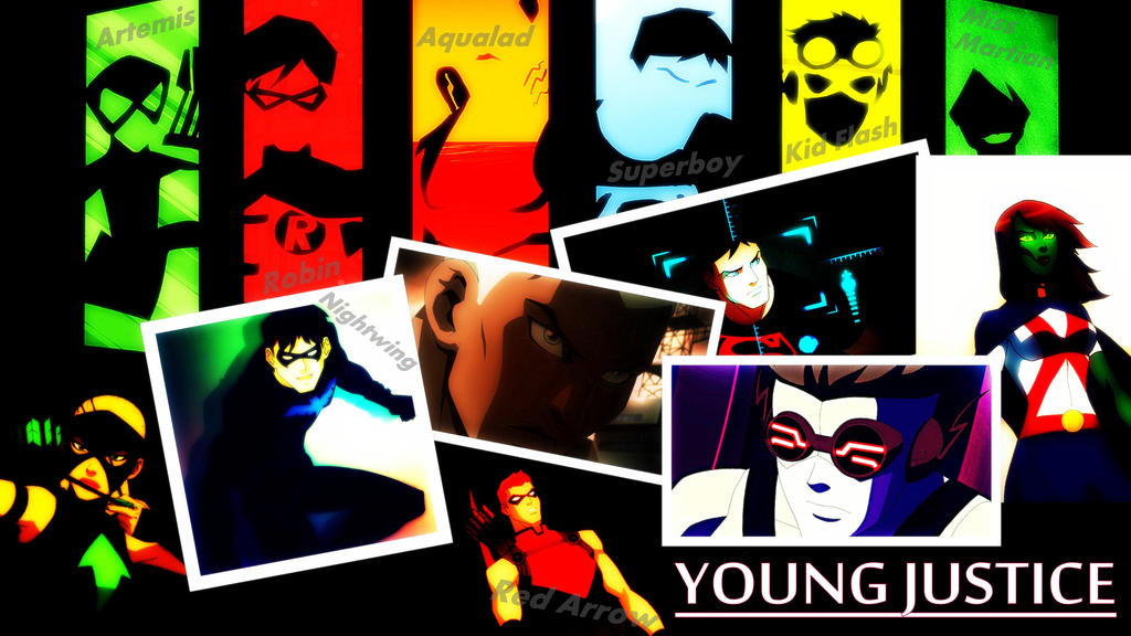 young justice wallpaper by wonderouswoman on deviantart