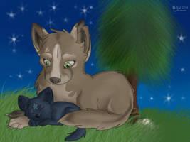 Kuna and Night by nightangelwolf