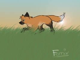 Fernix, a phox by nightangelwolf
