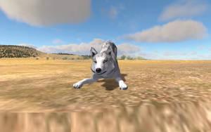 Blanca on Amethyst Mountain by nightangelwolf