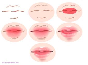 The lesson lips draw sai by EVA-777