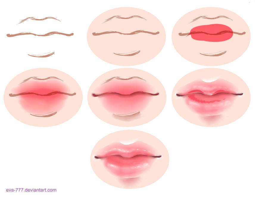 The lesson lips draw sai by eva 777 on deviantart for How to draw cute lips