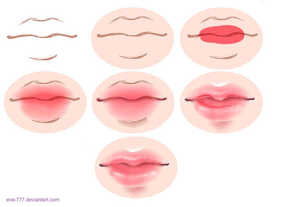 Рисовать губы в саи
