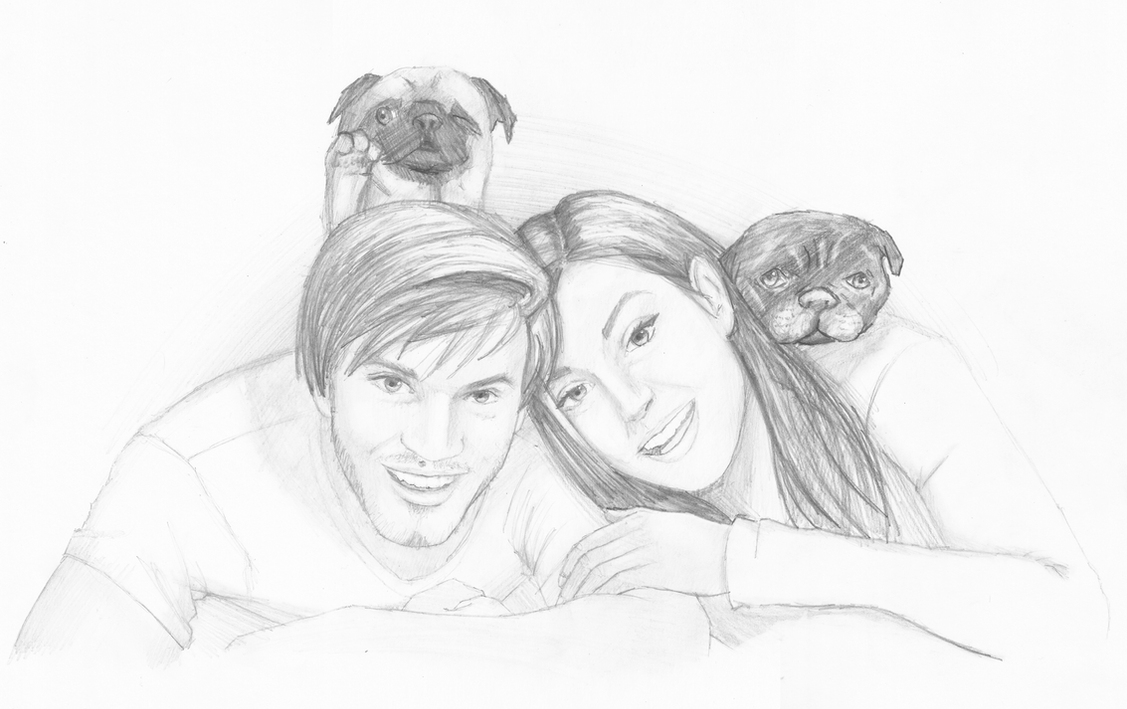 Pewdiepie, Marzia, Edgar and Maya by white-materia on ...