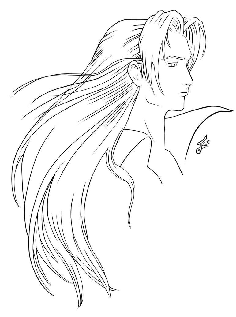 Line Art Using Pen Tool : Sephiroth lineart by white materia on deviantart