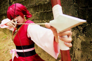 Target Locked! Yona Cosplay from Akatsuki no Yona by expkeyblademaster