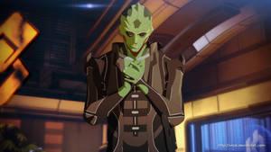 Mass Effect anime style Thane