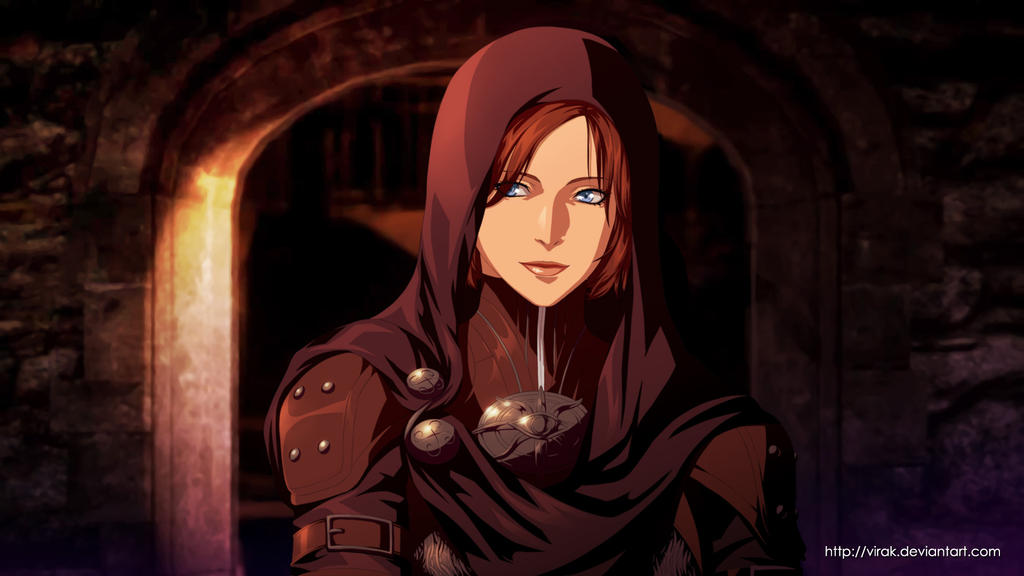 Dragon Age anime style Leliana by virak