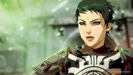 Dragon Age anime style Cassandra by virak