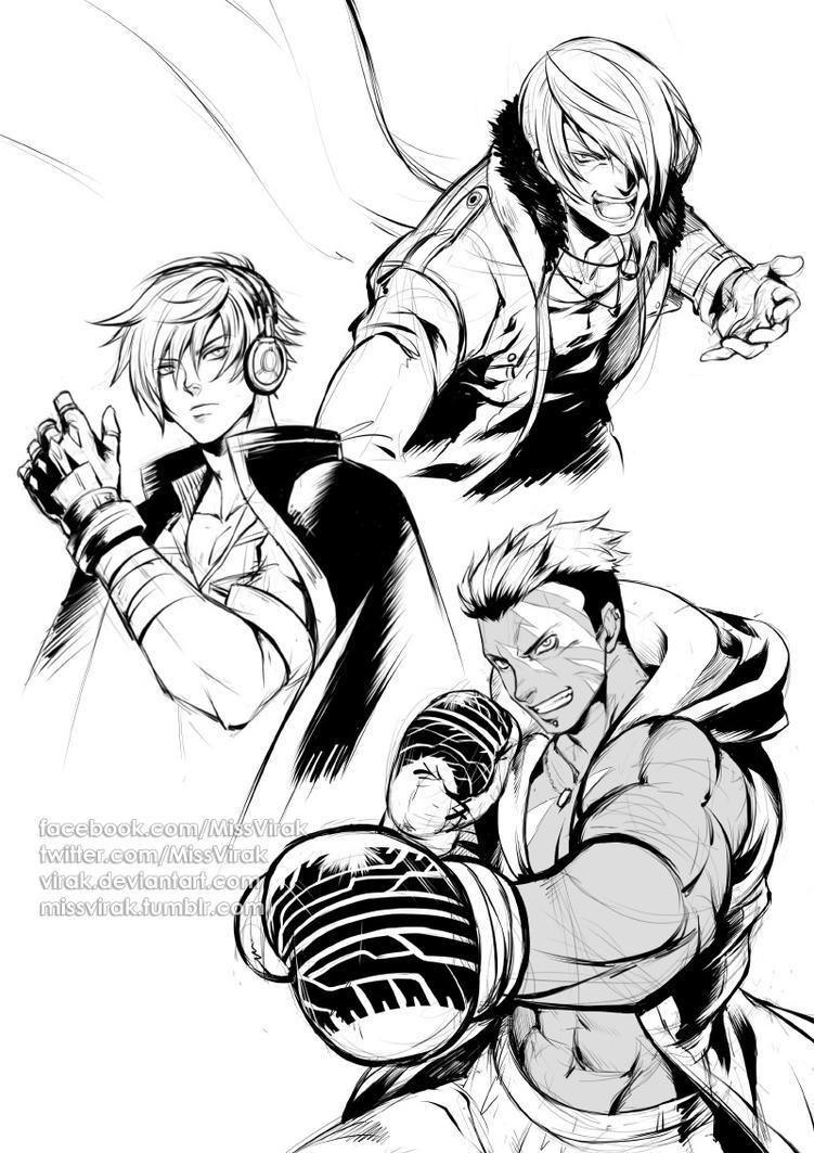 KOF XIV doodles 1 by virak