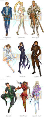 Le Ciel d'Eden Characters