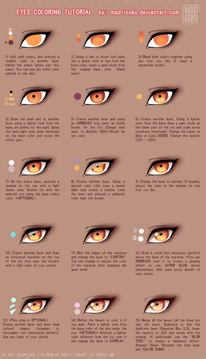 Eyes Coloring Tutorial Ver.2 by Mad-Izoku by Mad-Izoku on DeviantArt
