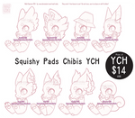 YCH: Squishy Pads Chibis Multi Species - CLOSED by Mad-Izoku