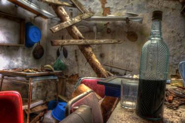 Forgotten wine bottle by CabrerFoto