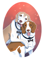 Buster and Lola [100 Watcher Raffle Prize] by CyndalCreates