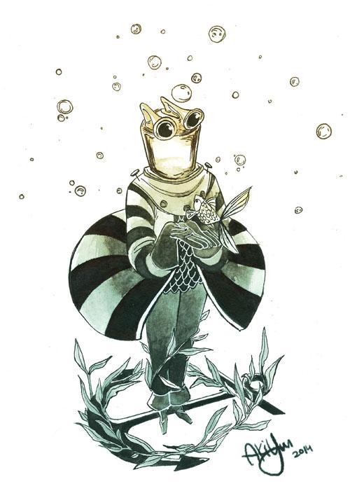 Inktober #1 by AkiYun