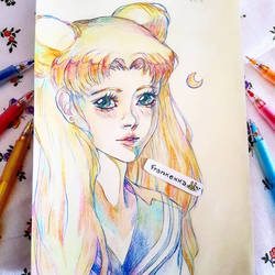 Usagi Tsukino - Sailor Moon by frankekka