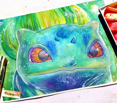 Bulbasaur - watercolor painting