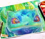 Bulbasaur - watercolor painting by frankekka