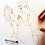 Lineart (Detail) - Our Secret by frankekka