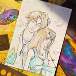 Squall + Rinoa / Final Fantasy VIII Inktober 2021 by frankekka