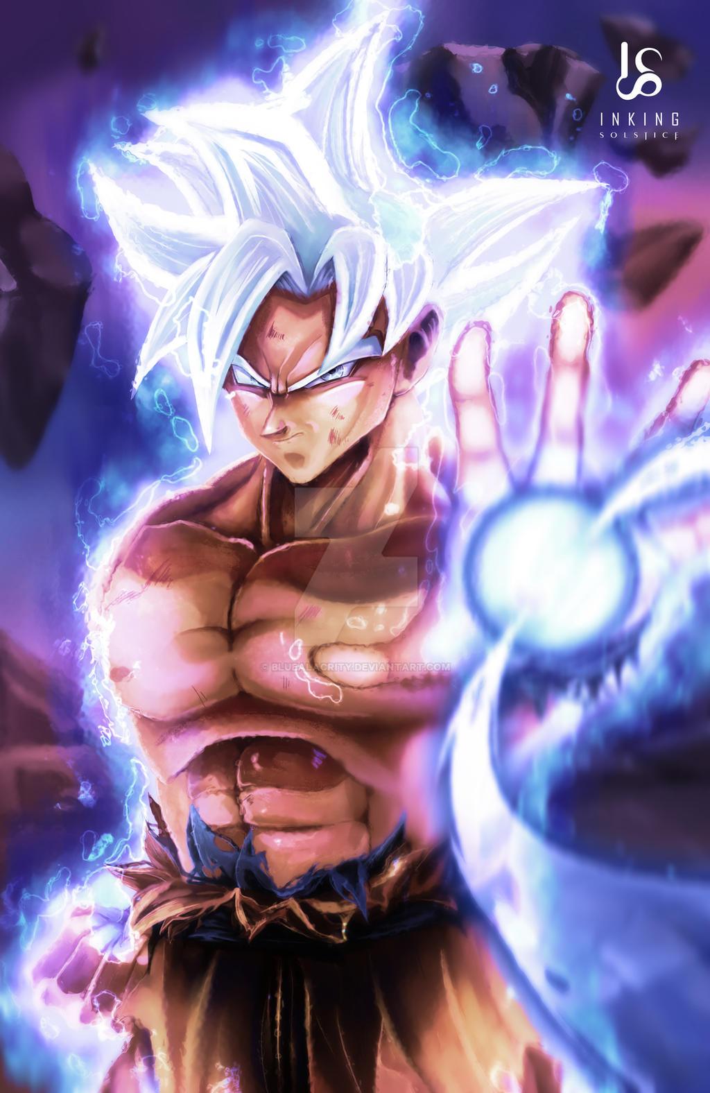 Mastered ultra instinct goku by bluealacrity on deviantart - Goku ultra instinct mastered wallpaper ...