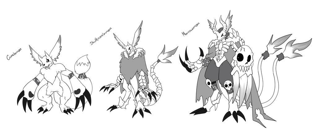 Gazimon's Digivolution Line by Readasaur