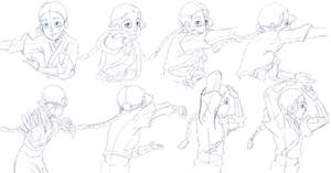 Katara Bending Study Sketches by Nylak