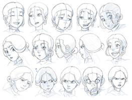 Katara Expressions Study by Nylak