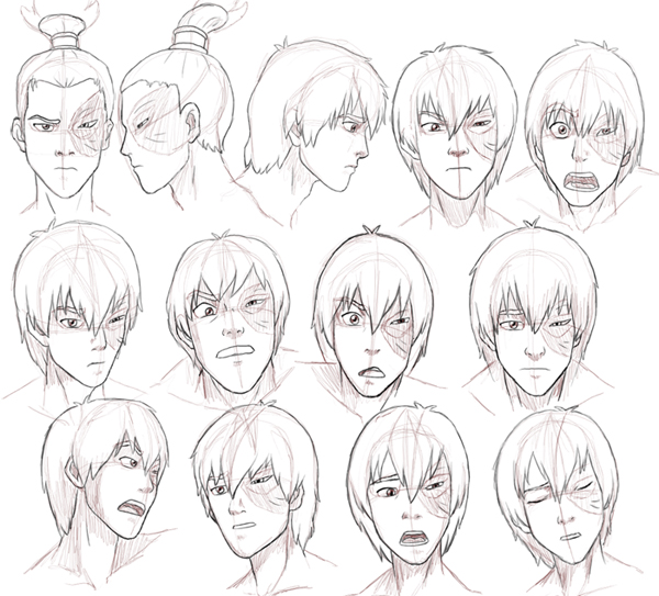 Zuko Expressions Study by Nylak