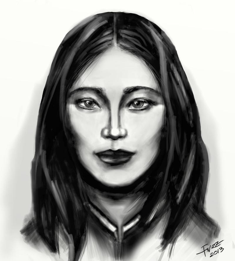 Portrait of an Asian woman by FiRez-DA