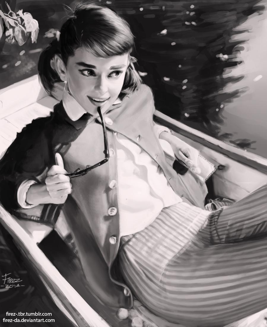 Audrey Hepburn Study by FiRez-DA