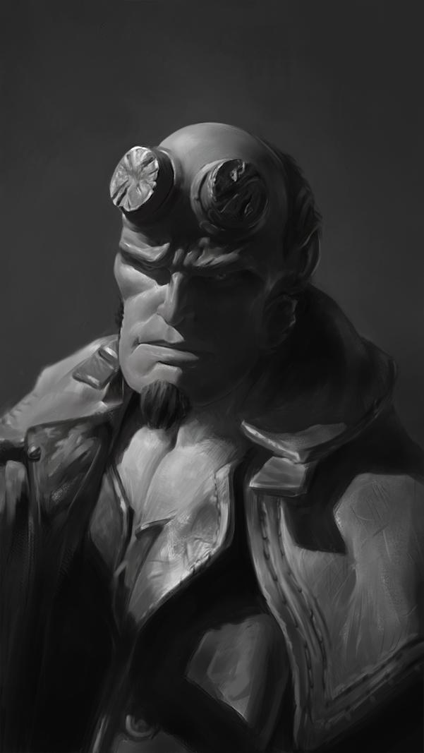 Hellboy figurine study by FiRez-DA