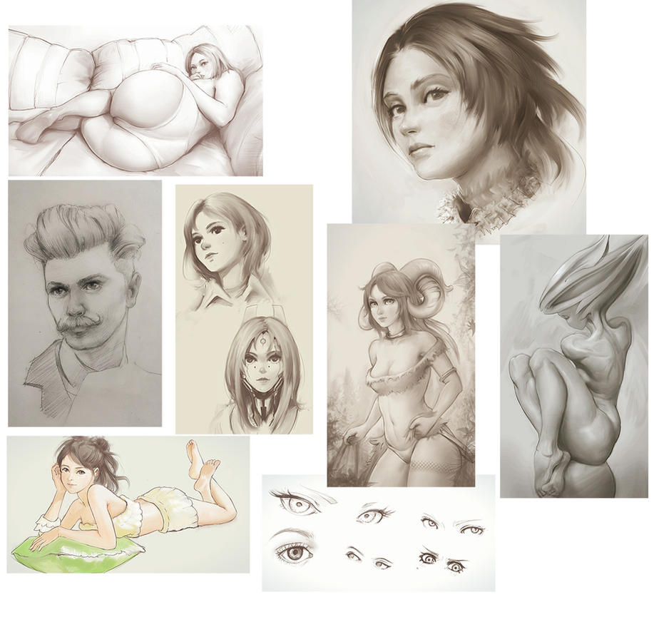 Tumblr Sketches and Studies by FiRez-DA