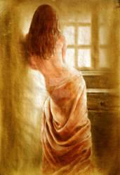 nude at window by rogerioarte
