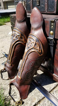 Norse Inspired Greaves