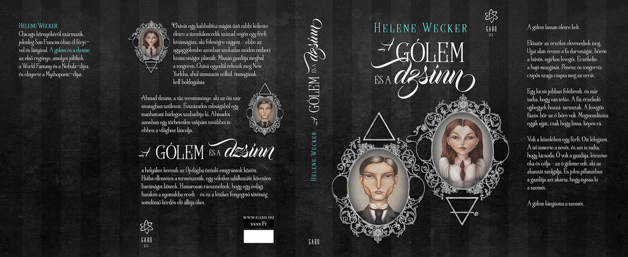 Book cover for The Golem and the Jinni by gaborcsigas