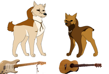 Guitar Doggos Woof Woof by SwagFeather