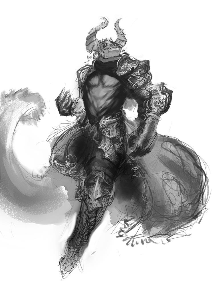 Dark mage knight by Ovek