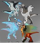 Dragon v Wyvern // ADOPTS // OPEN