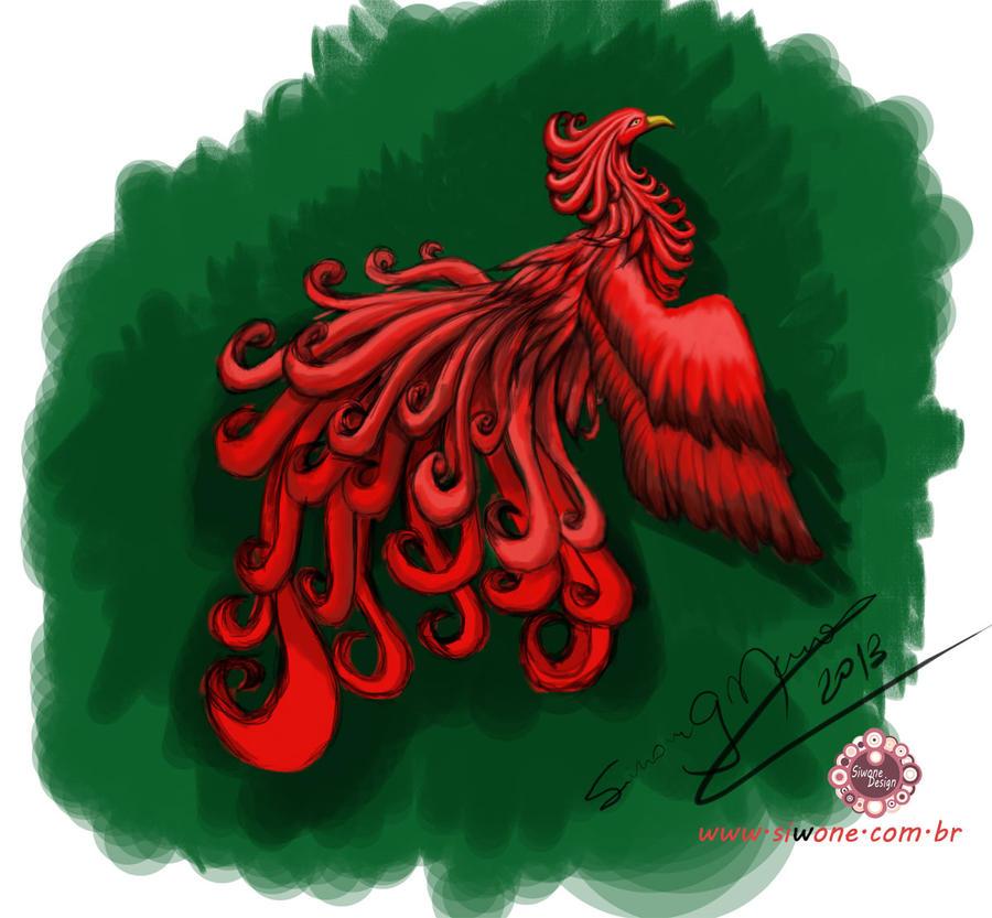 Red phoenix bird by siwone on deviantart red phoenix bird by siwone voltagebd Choice Image