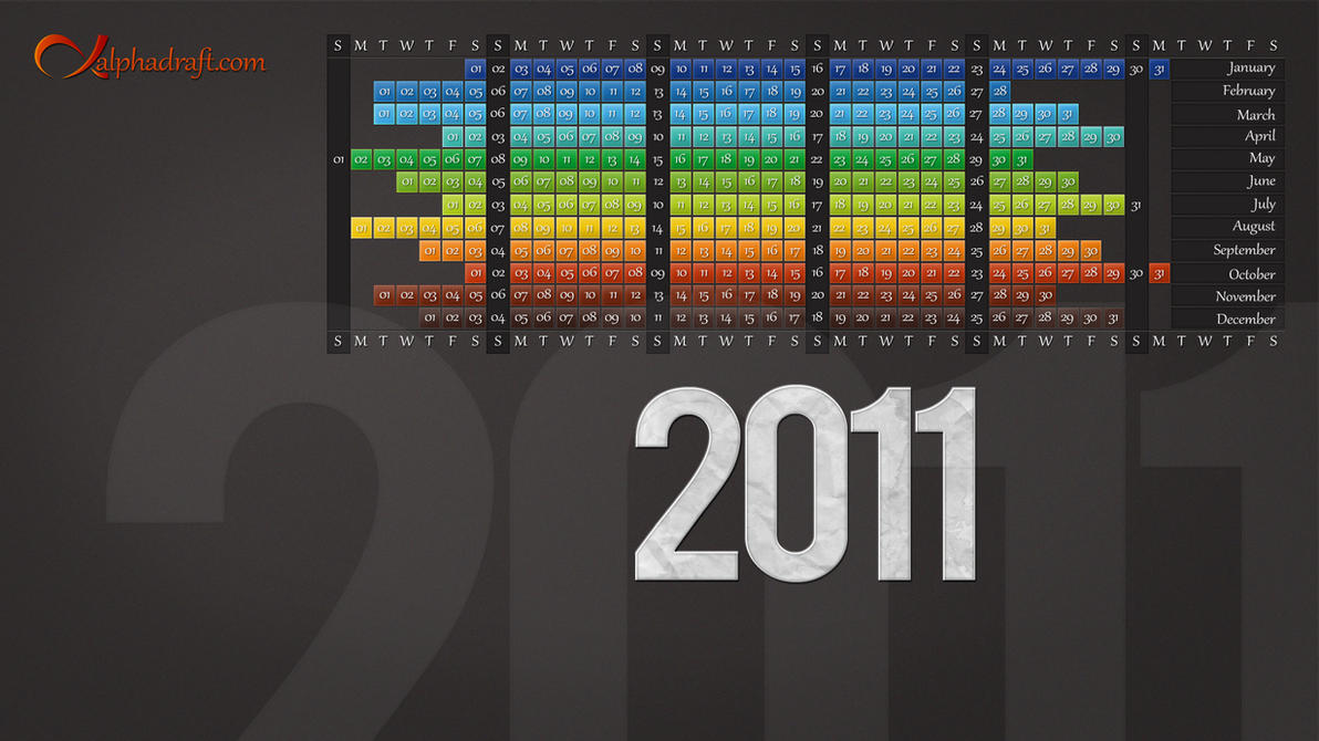 Desktop Calendar 2011 by hexahedronium