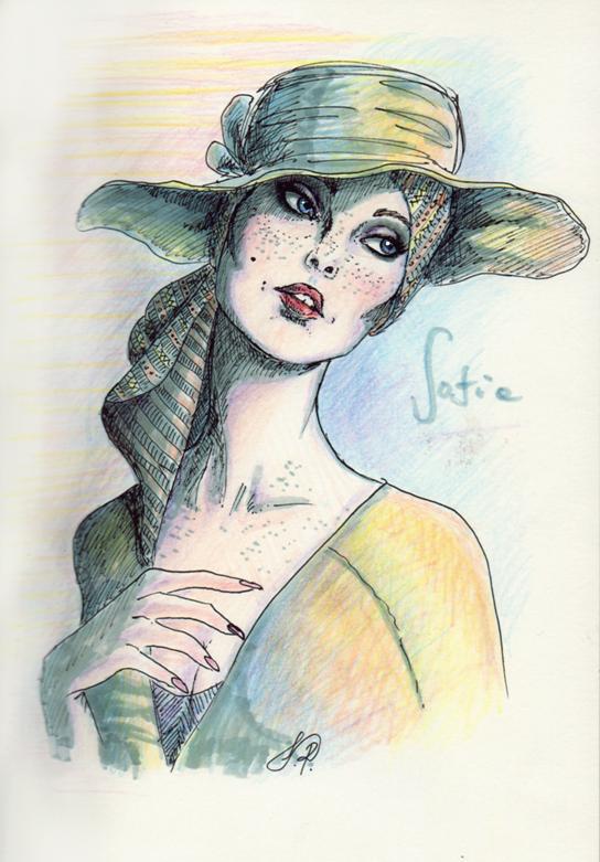 Sofia in a hat by Kikifuko