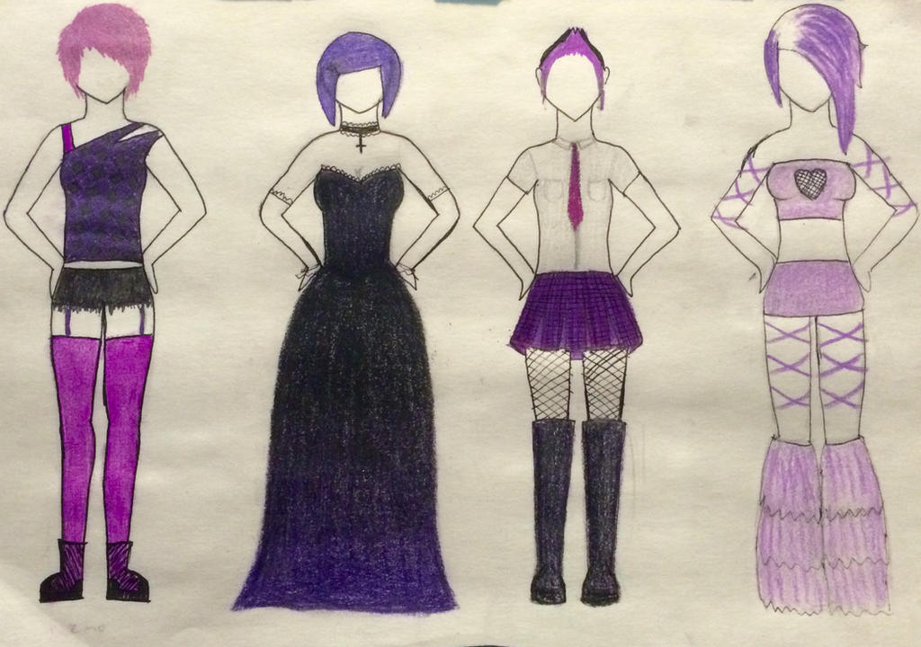 (1/4 OPEN) 10 POINT Purple Outfit Adoptables! by ZoolasAdoptables