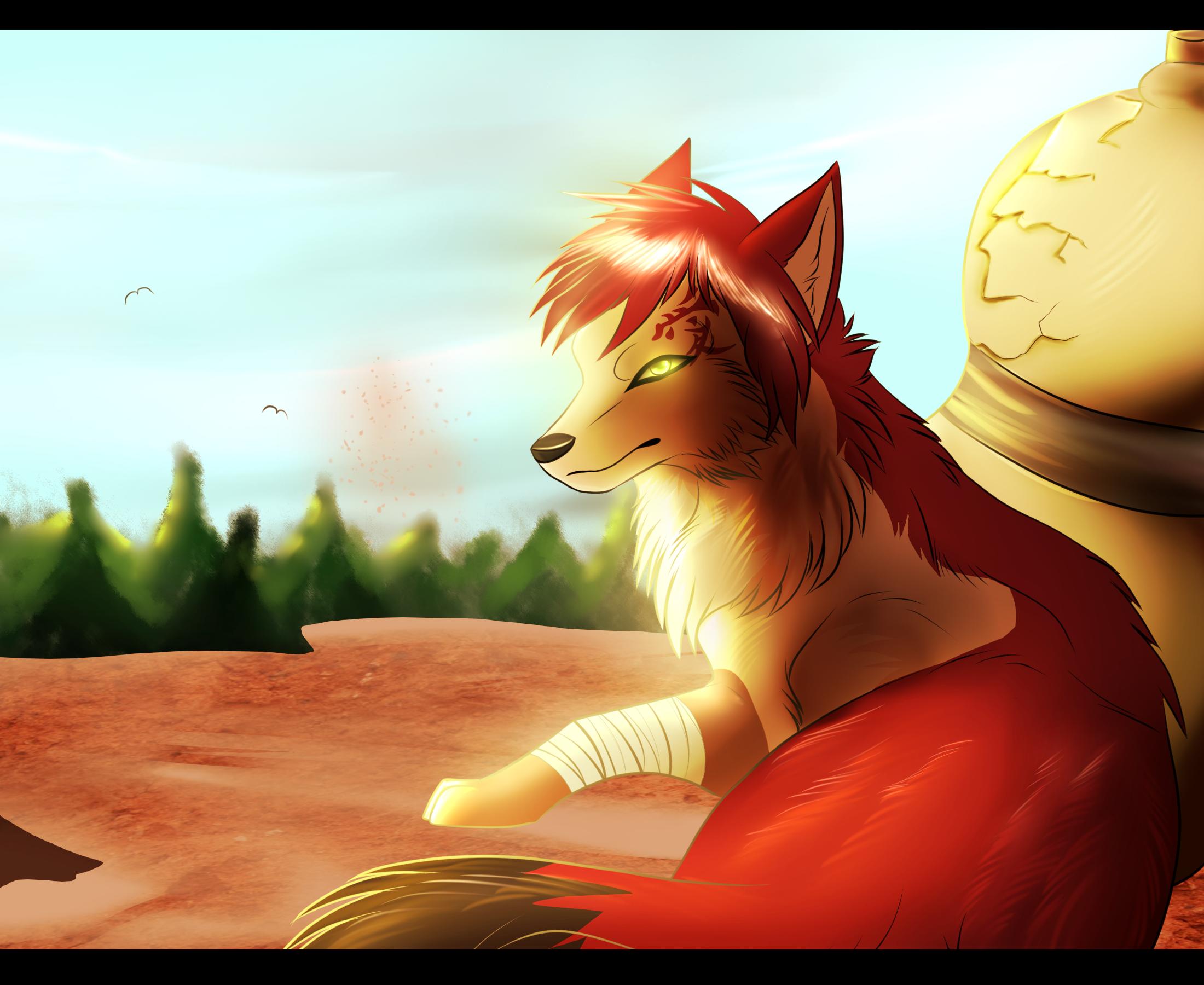 Gaara Wolf by Shiinrai on DeviantArt Gaara As A Wolf