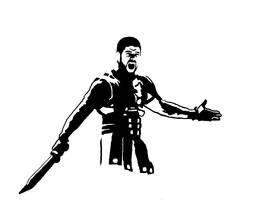 Gladiator Stencil by ginshun