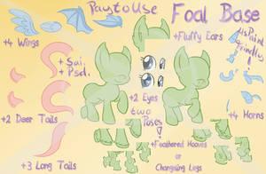 Foal Base [P2U] [MSpaint Friendly] by Blitzkatze