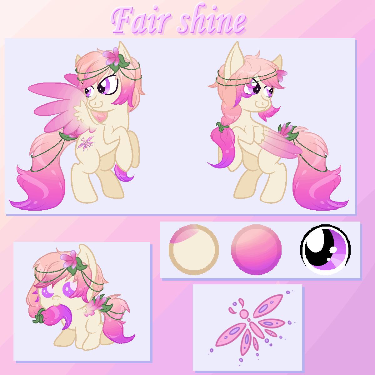 Fair Shine Ref Sheet [commission] by Blitzkatze