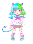 Colorfull Devil adopt -Auction- CLOSED